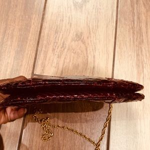 Bags - Purse 👛 snake imitation,burgundy (good condition)